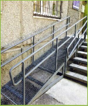 Пандус для инвалидов металлический с ограждением
