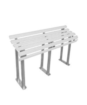 Скамья для инвалидов с деревянными рейками